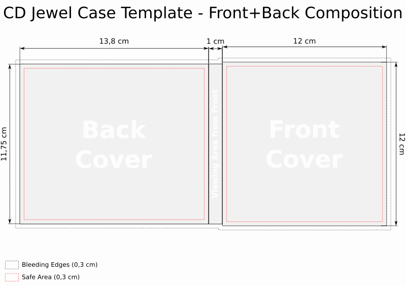 Jewel Case Inserts Template Unique Cd Templates for Jewel Case In Svg