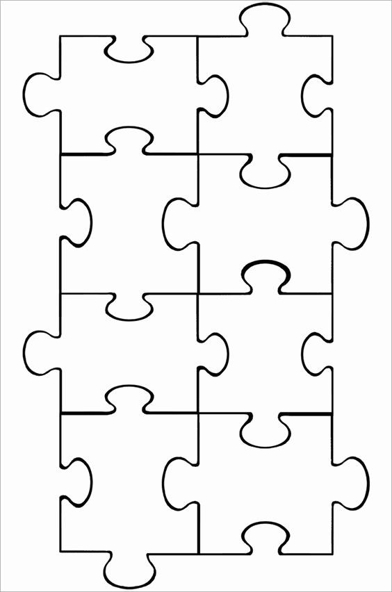 Jigsaw Puzzle Template Generator Awesome Puzzle Piece Template Puzzle Pieces and Puzzles On Pinterest