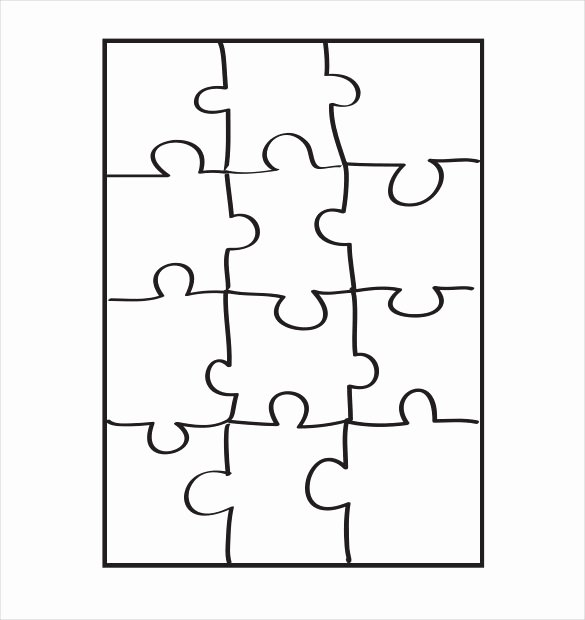 Jigsaw Puzzle Template Generator Beautiful Printable Jigsaw Puzzle Template