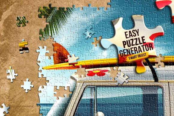 Jigsaw Puzzle Template Generator Fresh Easy Puzzle Generator Layer Styles On Creative Market