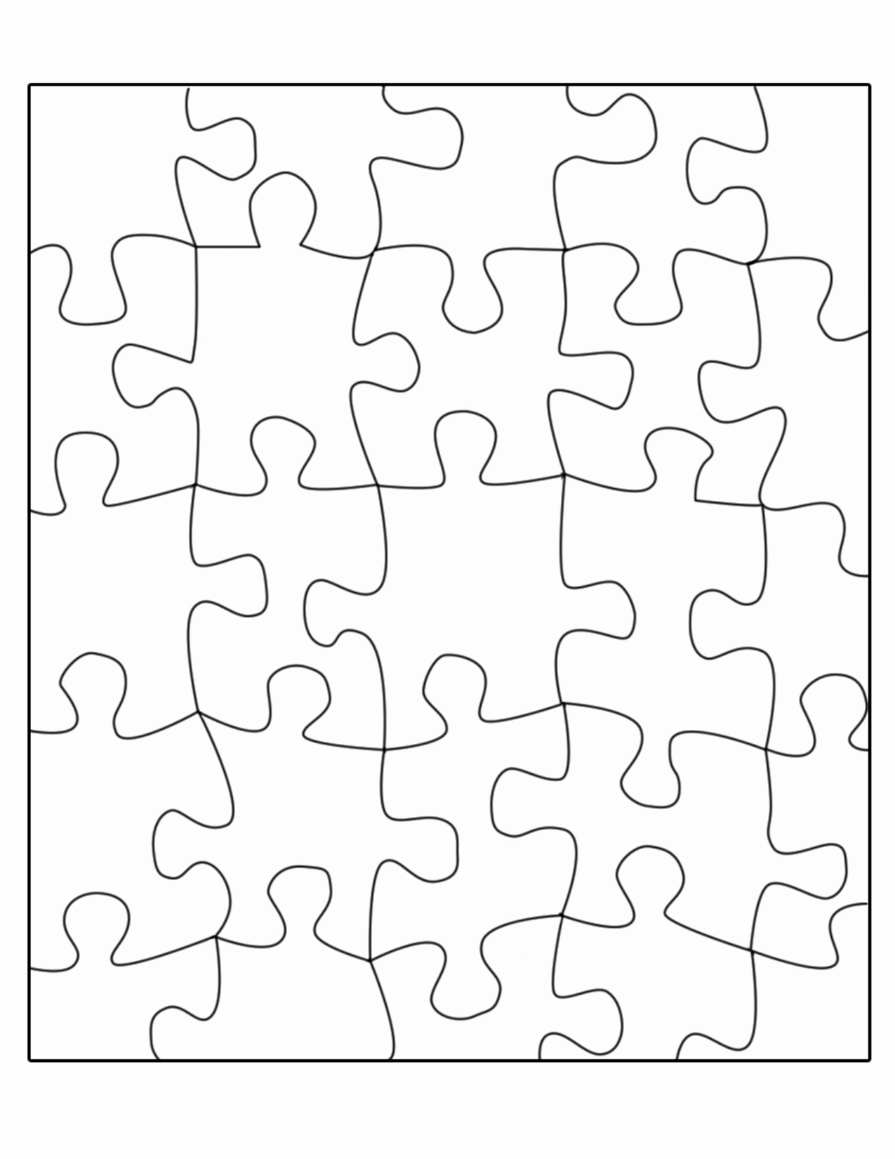 Jigsaw Puzzle Template Generator Fresh Free Puzzle Template Download Free Clip Art Free Clip