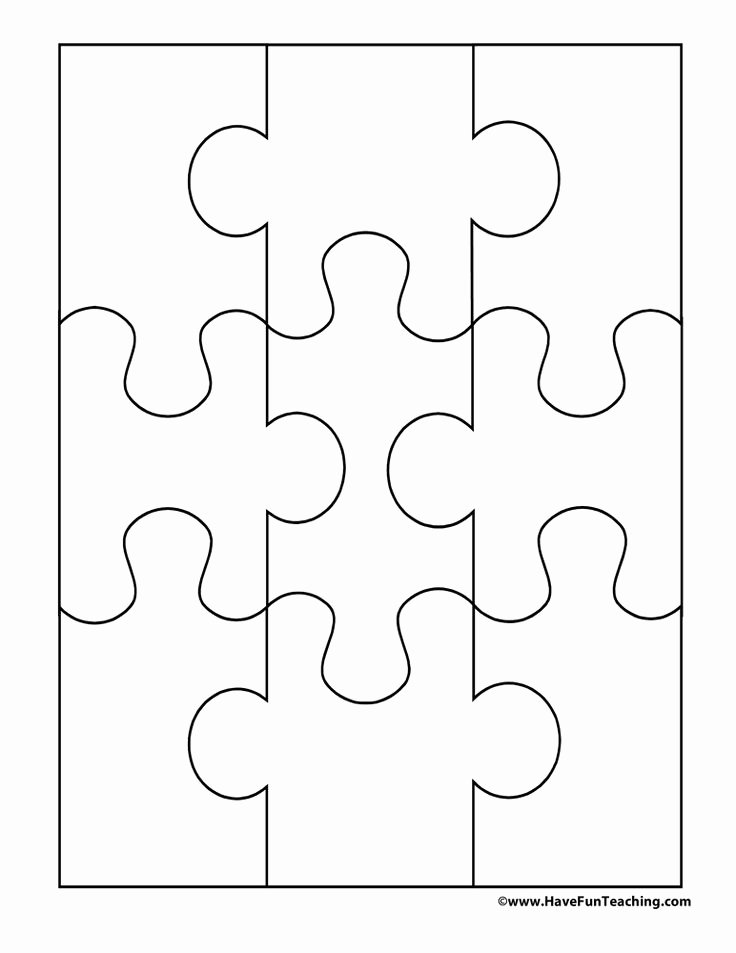 Jigsaw Puzzle Template Generator New Blank Puzzle 9 Pieces Escape Rooms