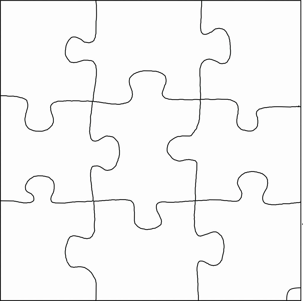 Jigsaw Puzzle Template Generator New Puzzle Pattern with 9 Pieces Put Each Piece In Glow Egg