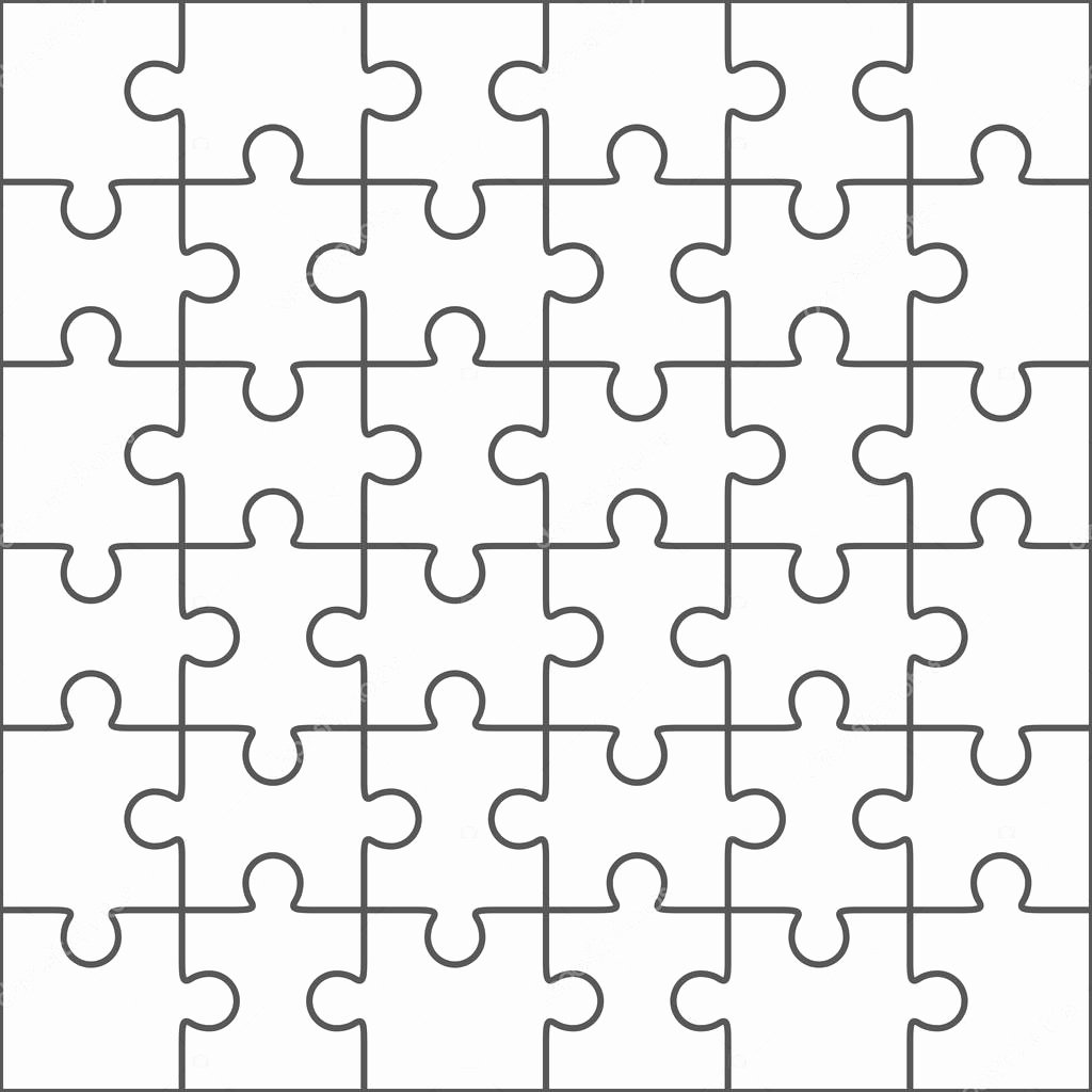 Jigsaw Puzzle Template Generator Unique Puzzle Template
