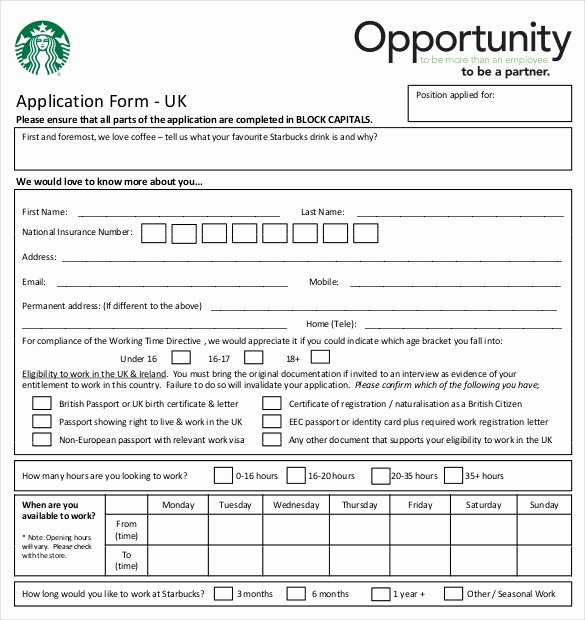 Job Application form Sample Best Of 10 Restaurant Application Templates – Free Sample