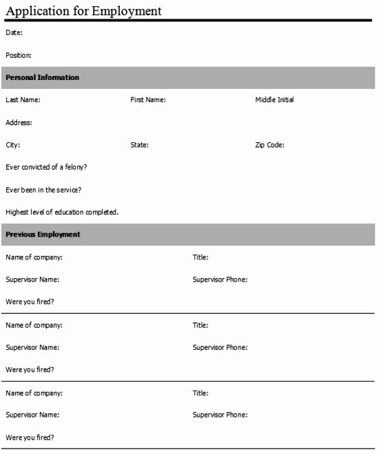 Job Application form Sample Fresh Anatomy Of Word Create An Employment Application form