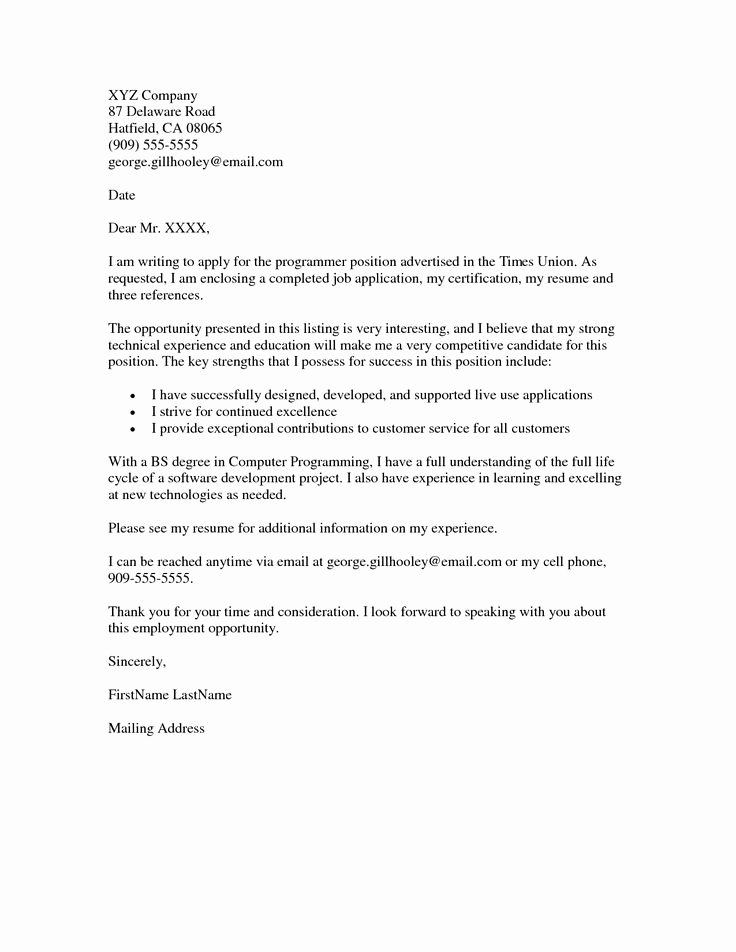 Job Application Writing Sample Lovely Job Application Cover Letter Example Resumes