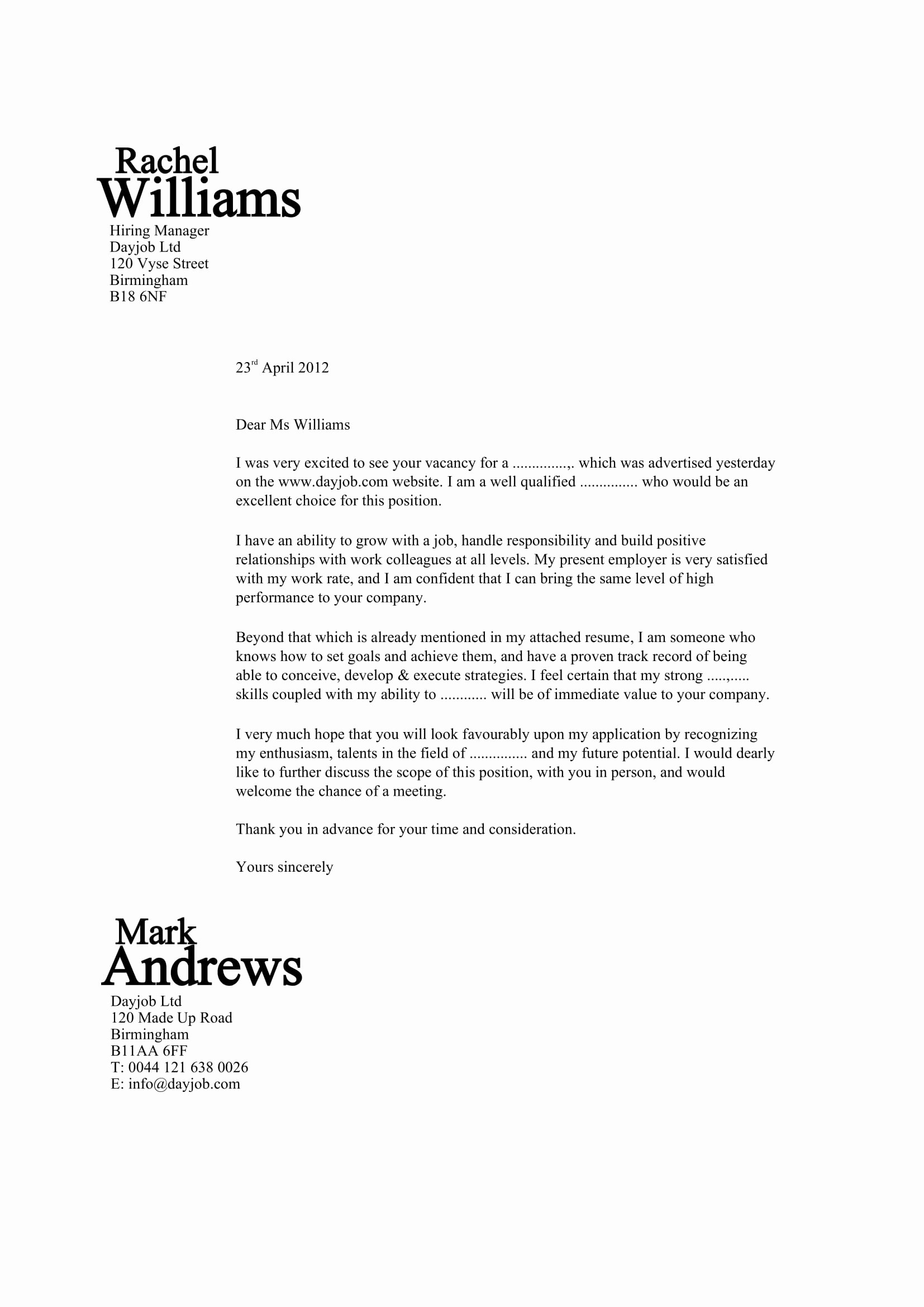 Job Application Writing Sample Luxury 32 Best Sample Cover Letter Examples for Job Applicants