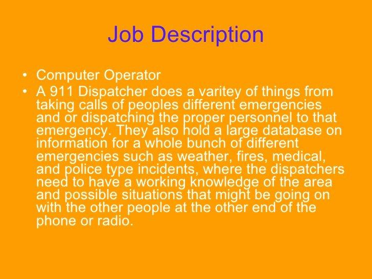 Job Description for Dispatcher Inspirational Public Safety Dispatcher