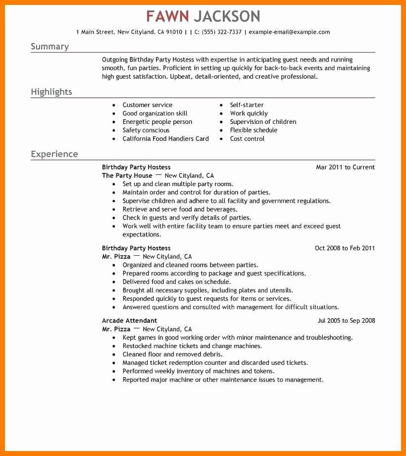 Job Description for Hostess Beautiful 13 14 Party Host Job Description for Resume