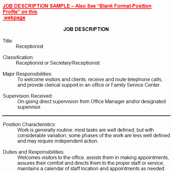 Job Description format Doc Best Of 19 Free Job Description Templates In Word Excel Pdf
