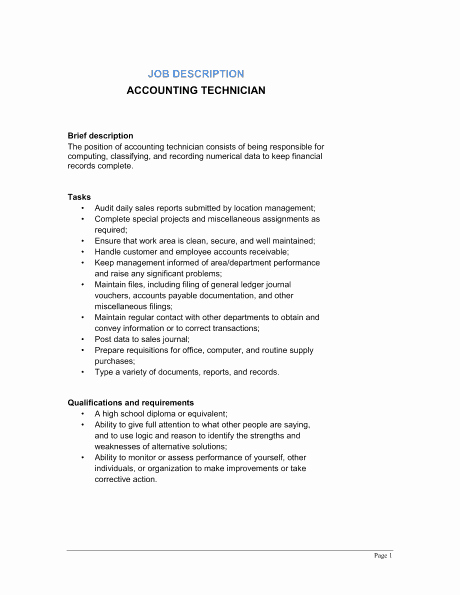 Job Description format Doc Unique 9 Job Description Templates Word Excel Pdf formats
