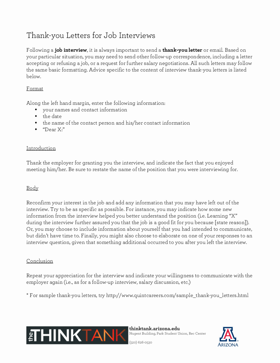 Job Interview Follow Up Letter Awesome Thank You Letters for Job Interviews Edit Fill Sign