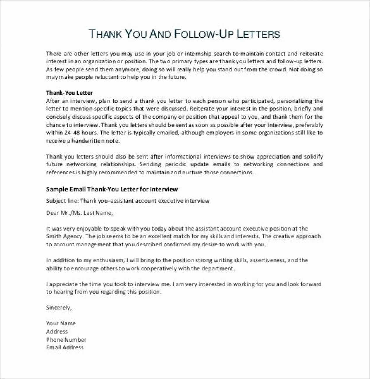 Job Interview Follow Up Letter Best Of 12 13 Writing Samples for A Job