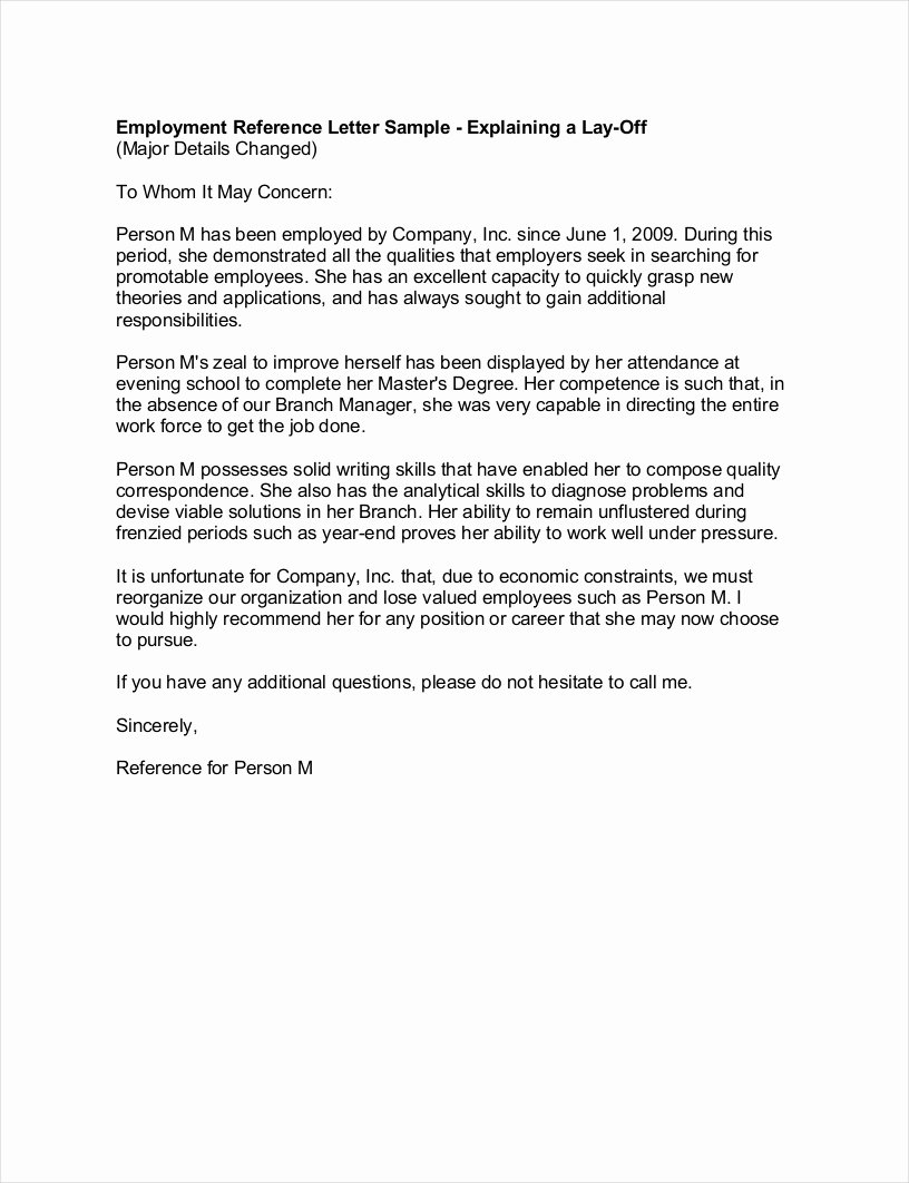 Job Recommendation Letter Sample Fresh Free 9 Employee Reference Letter Samples In Pdf