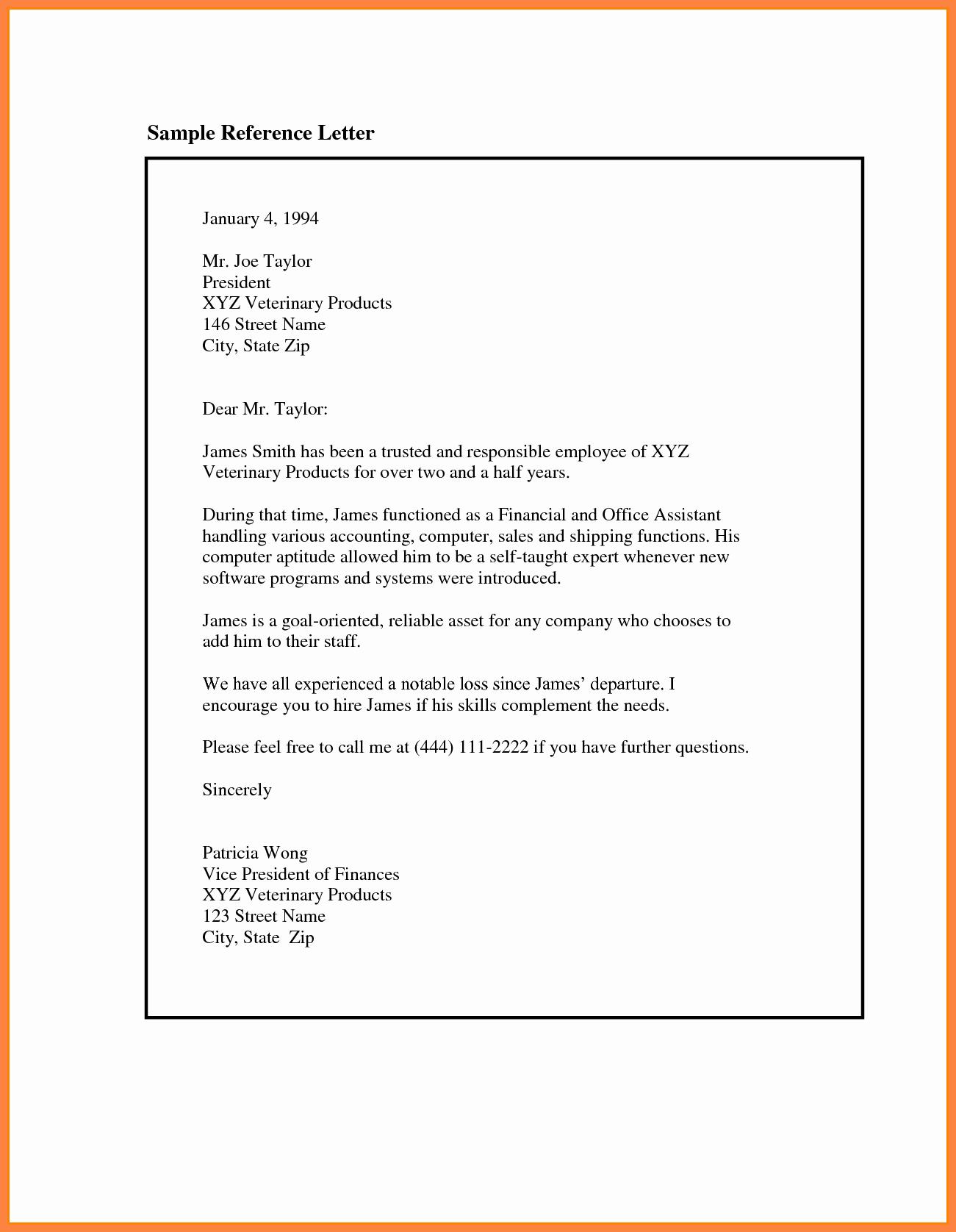 Job Recommendation Letter Sample Lovely 9 Re Mendation Letter for Employee