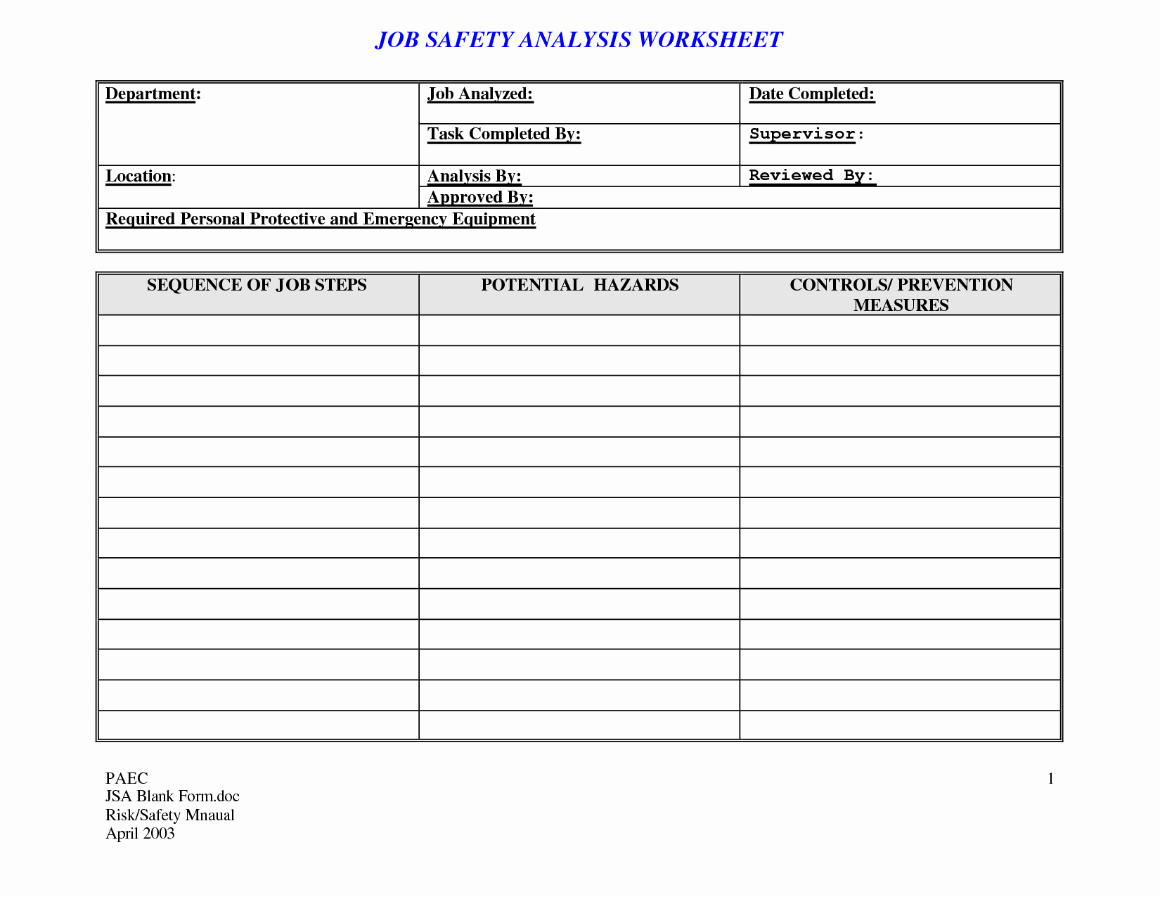 Job Safety Analysis Example Elegant 20 Effective Task List Template and Examples to Inspire