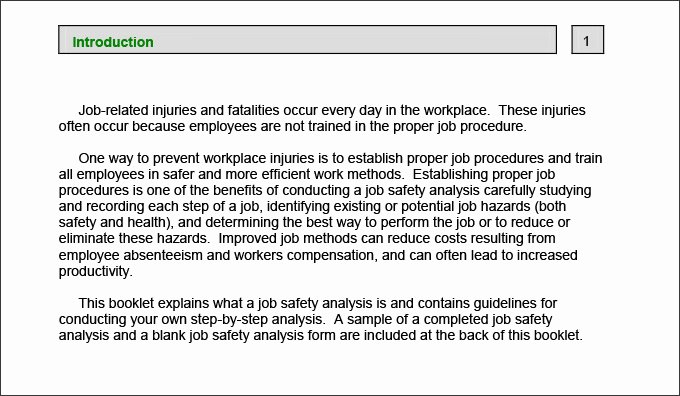 Job Safety Analysis Example New 10 Sample Job Safety Analysis Templates Pdf Doc