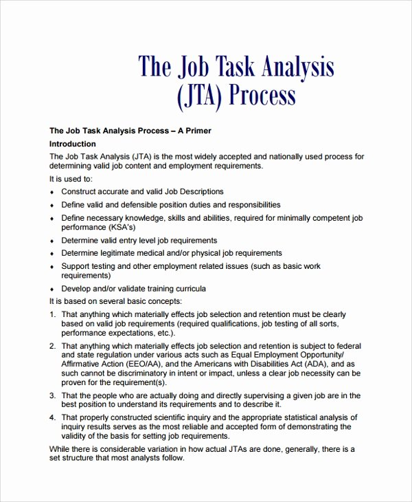 Job Task Analysis Examples Unique Download Biodegradation Nitroaromatic Pounds and