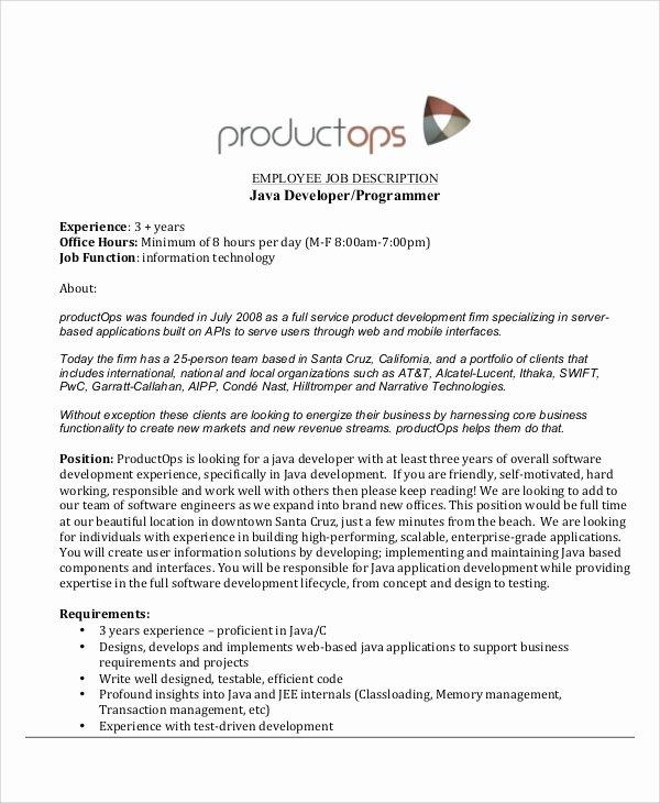 Junior Java Developer Resume Awesome Sample Java Developer Resume 7 Examples In Word Pdf