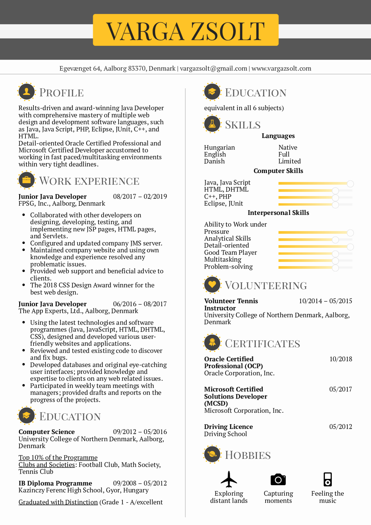 Junior Java Developer Resume Beautiful Resume Examples by Real People Junior Java Developer