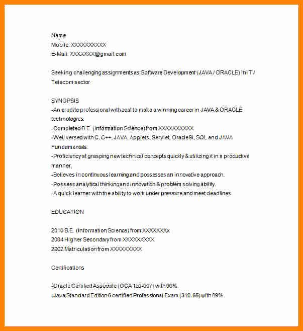 Junior Java Developer Resume Best Of 5 Junior Java Developer Resume