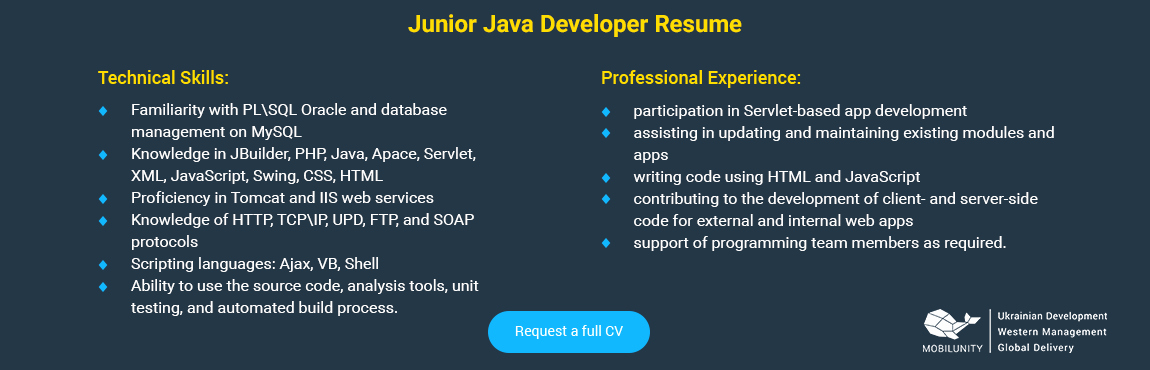 Junior Java Developer Resume Fresh Check Java Developer Resume to Hire A Perfect Employee
