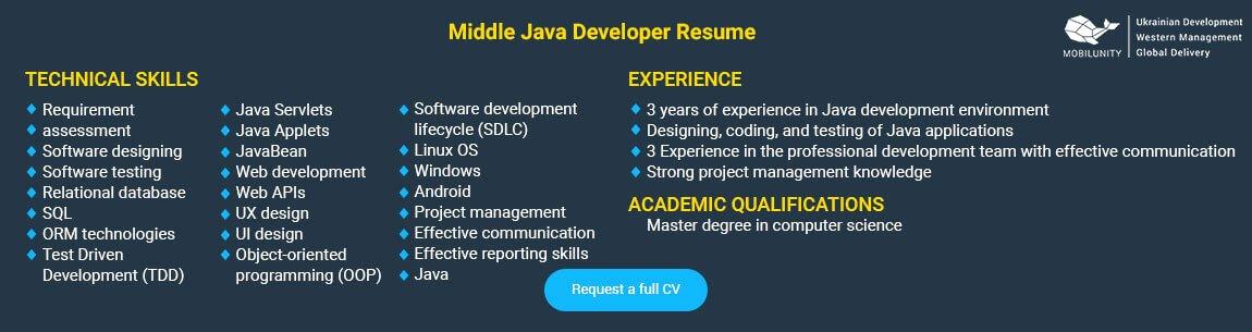 Junior Java Developer Resume Unique Java Application Developers
