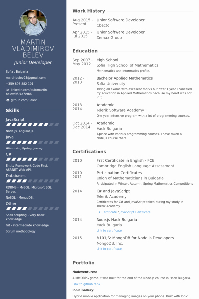 Junior Java Developer Resume Unique Junior software Developer Resume