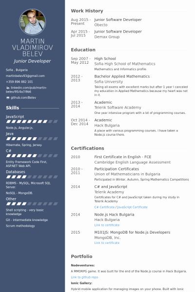 Junior Java Developer Resume Unique Junior software Developer Resume