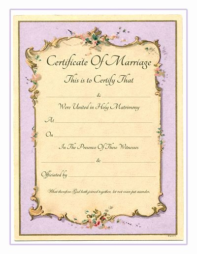 Keepsake Marriage Certificate Template Best Of Keepsake Marriage Certificate Free Printable Vintage