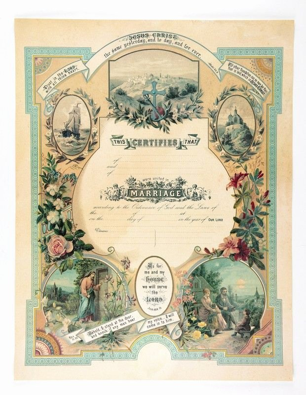 Keepsake Marriage Certificate Template Best Of Victorian Blank Marriage Certificate