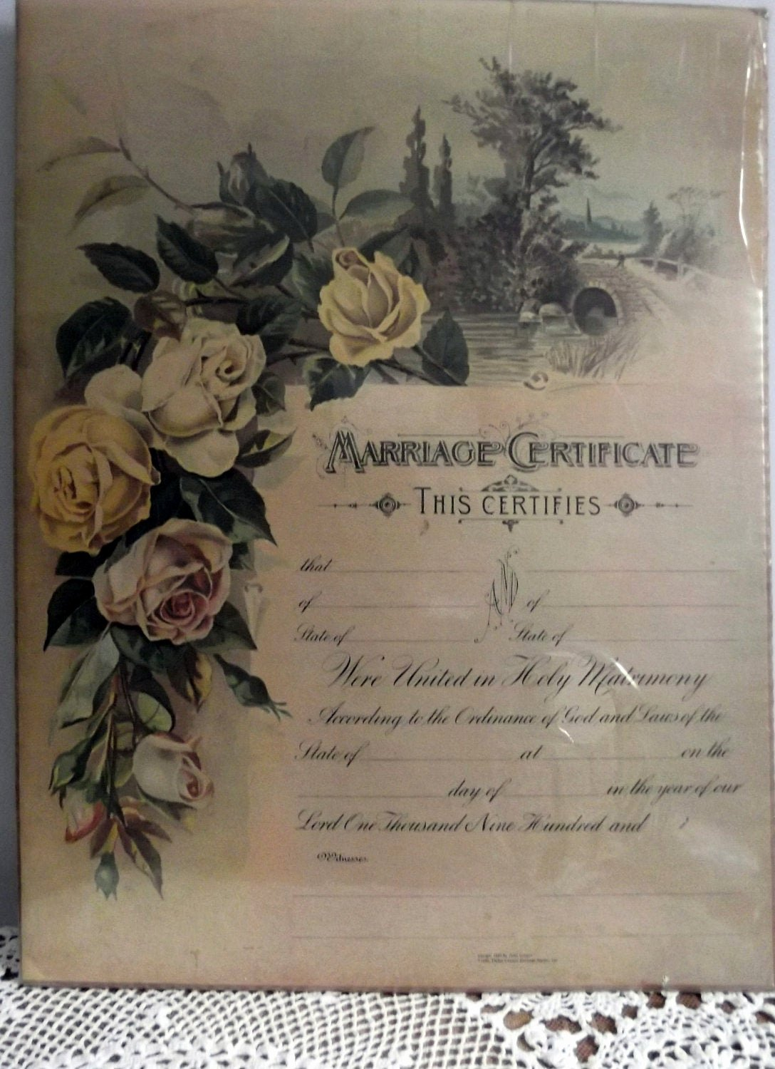 Keepsake Marriage Certificate Template Fresh Vintage Marriage Certificate Poster Replicated From 1889