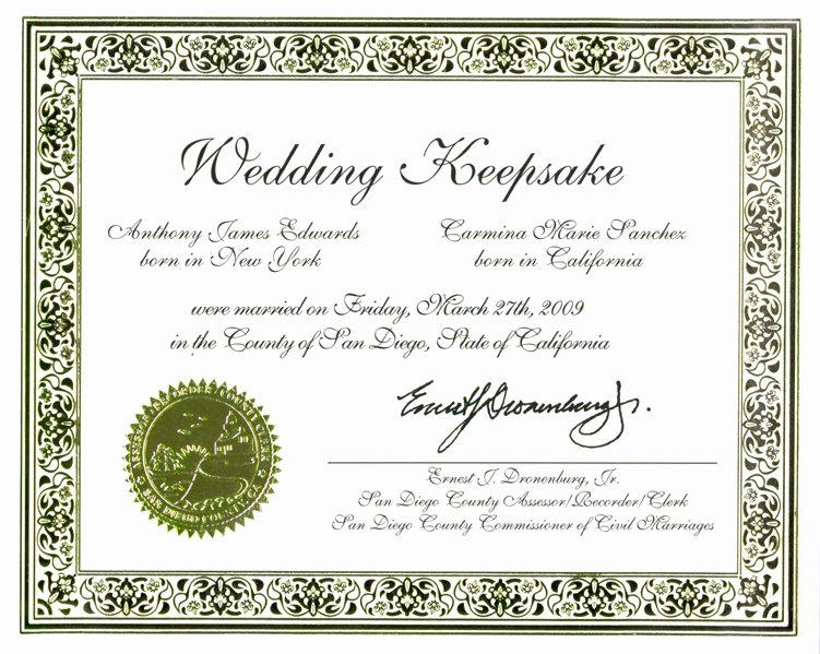 Keepsake Marriage Certificate Template Fresh Wedding Certificate Keepsake