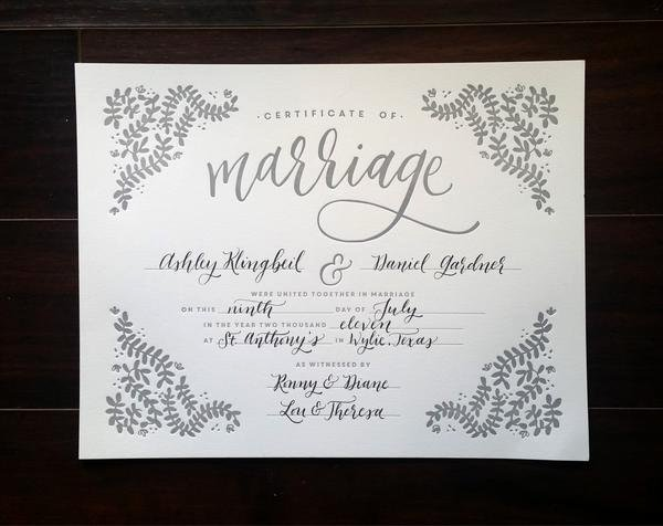 Keepsake Marriage Certificate Template Inspirational Letterpress Marriage Certificate – Printable Wisdom