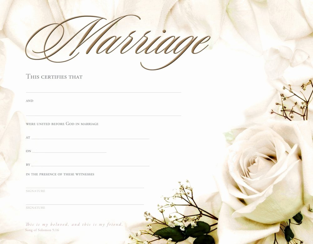 Keepsake Marriage Certificate Template Inspirational Marriage Certificate Template formats Examples In Word