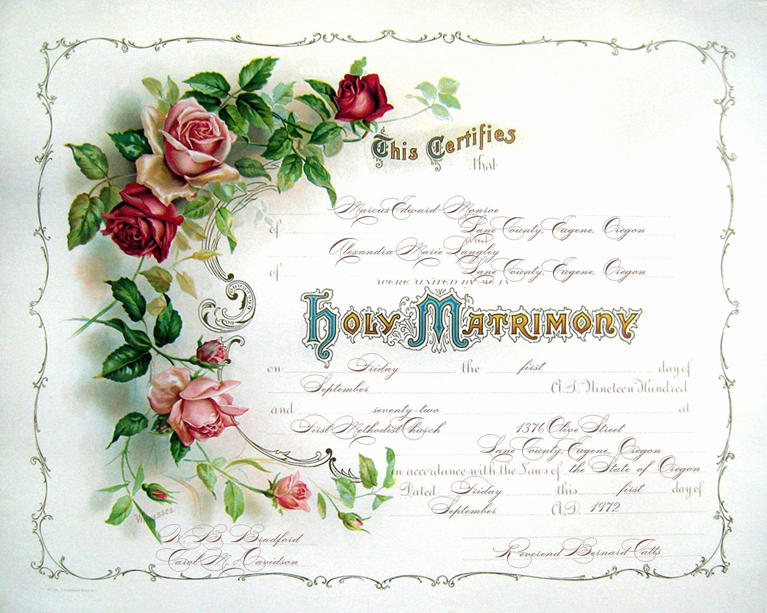Keepsake Marriage Certificate Template Lovely Vintage Wedding Certificate or Marriage by Moonlightingandco