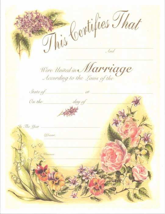 Keepsake Marriage Certificate Template Luxury Antique Marriage Certificate 1