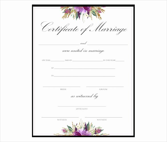 Keepsake Marriage Certificate Template Unique 36 Blank Certificate Template Free Psd Vector Eps Ai