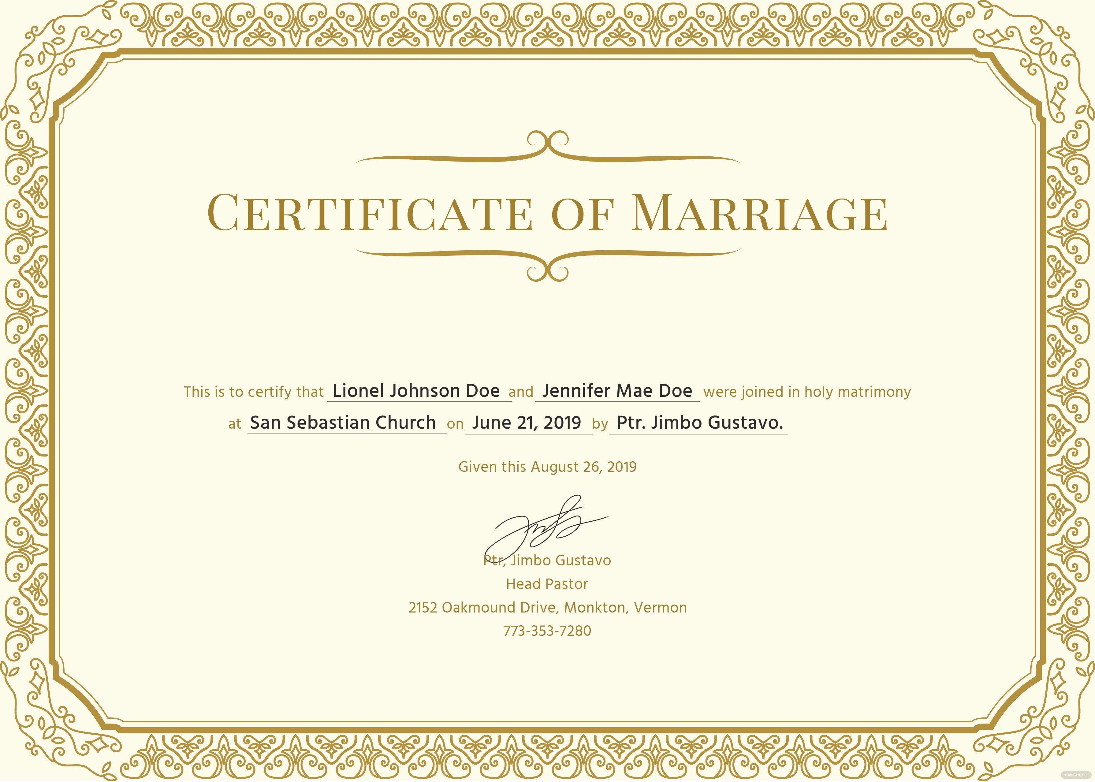 Keepsake Marriage Certificate Template Unique Free Marriage Certificate Template In Psd Ms Word