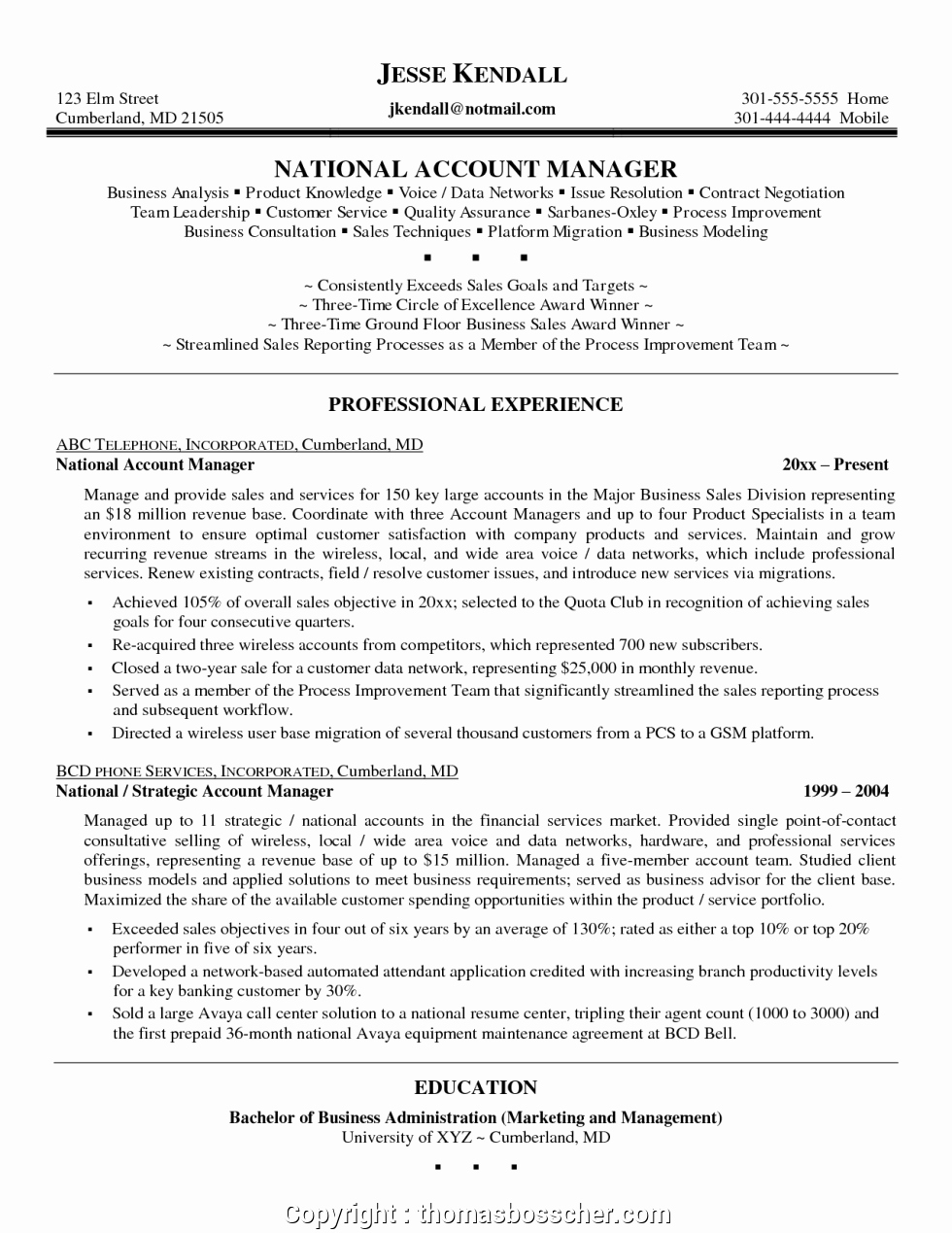 Key Account Manager Resume New Print National Account Manager Resume Objective Resumes