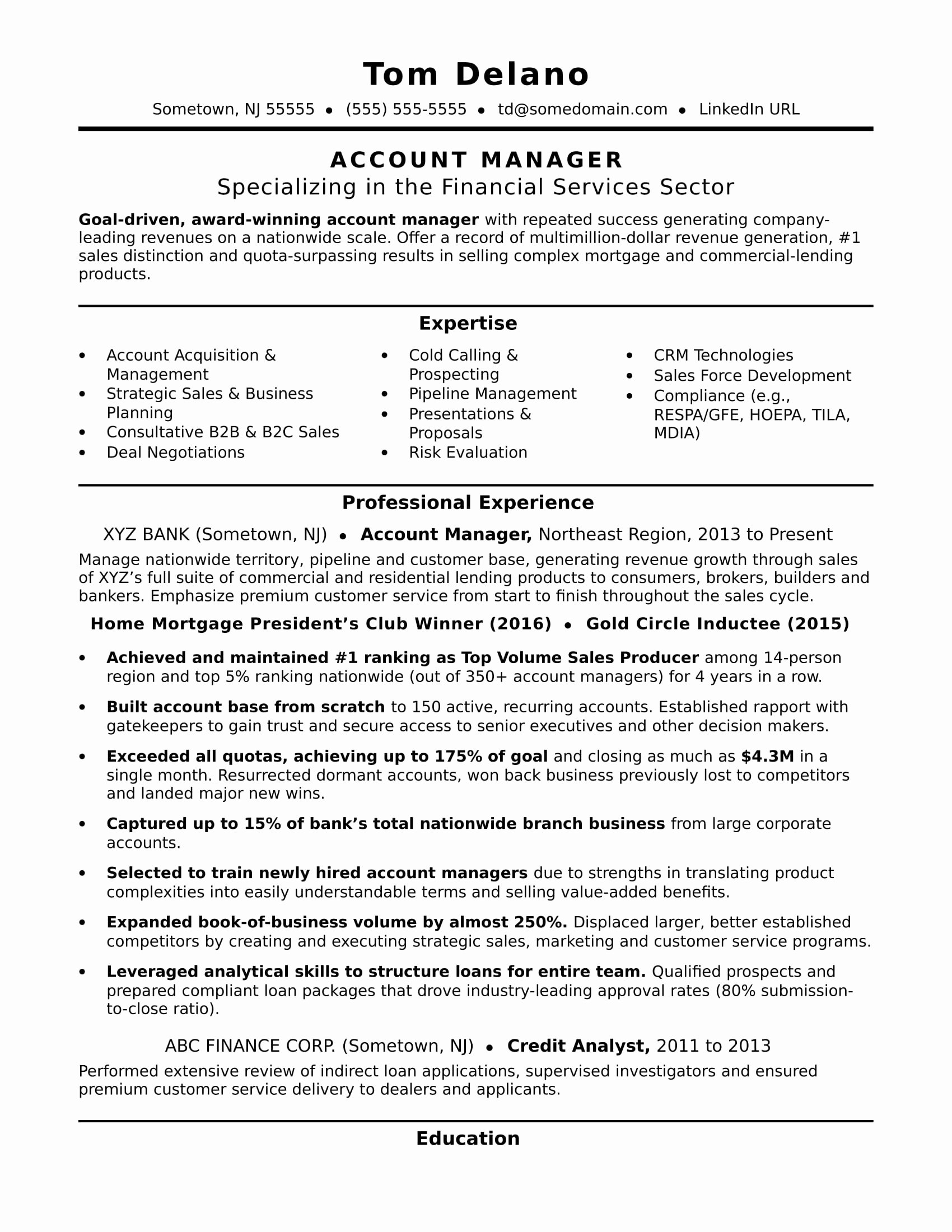 Key Account Manager Resume Unique Account Manager Resume Template
