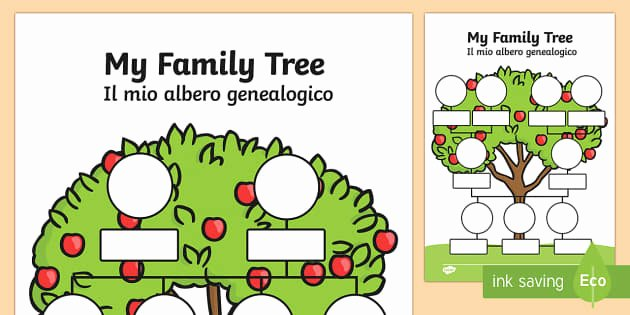 Kindergarten Family Tree Template Awesome My Family Tree English Italian My Family Tree Worksheets