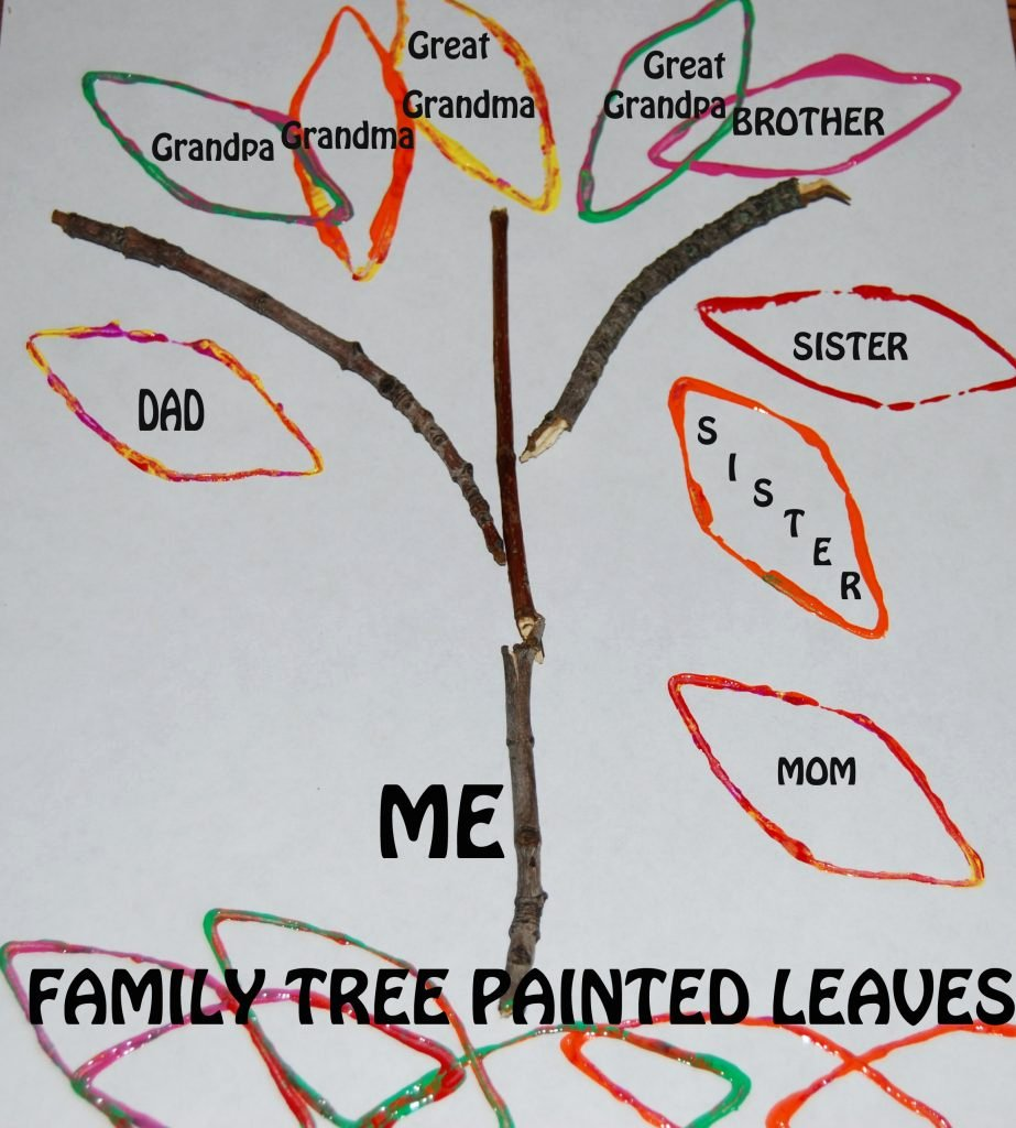 Kindergarten Family Tree Template Beautiful My Funny Family Family Tree Stick Crafts for Preschool