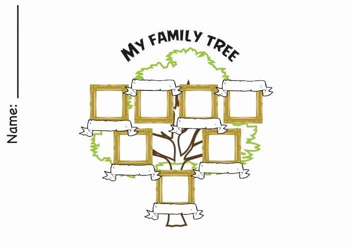 Kindergarten Family Tree Template Elegant Family Tree Worksheets Kindergarten