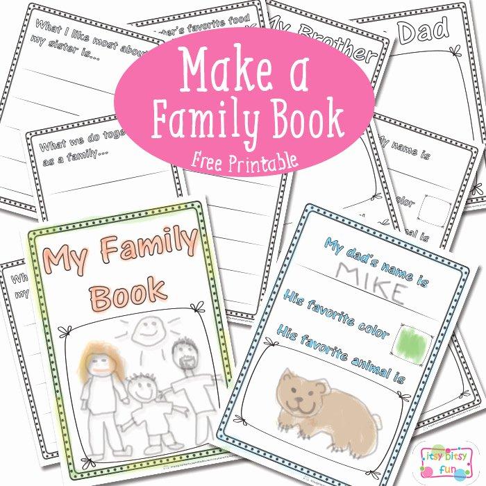 Kindergarten Family Tree Template Elegant Free Family Book Printables