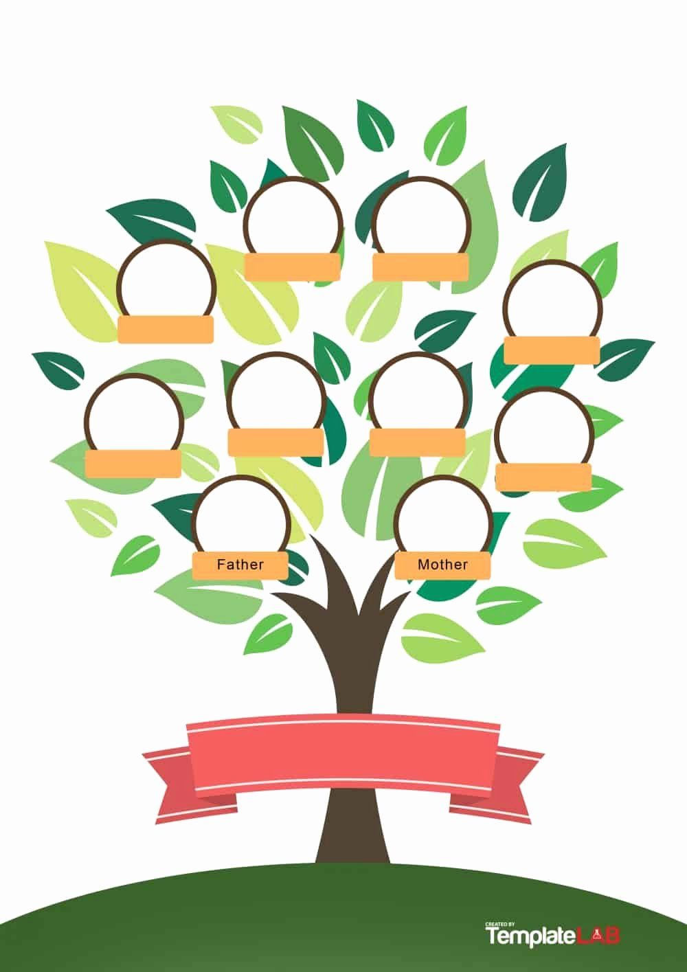 Kindergarten Family Tree Template Fresh 50 Free Family Tree Templates Word Excel Pdf
