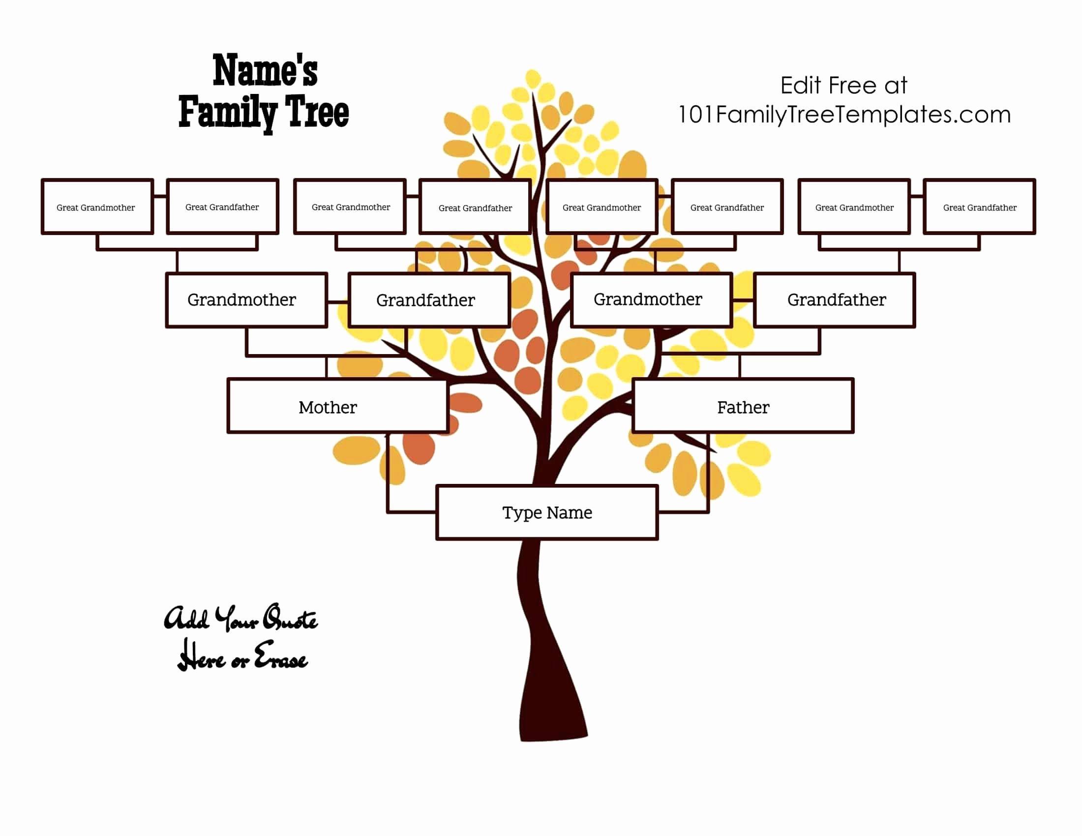 Kindergarten Family Tree Template Lovely 4 Generation Family Tree Template Free to Customize & Print