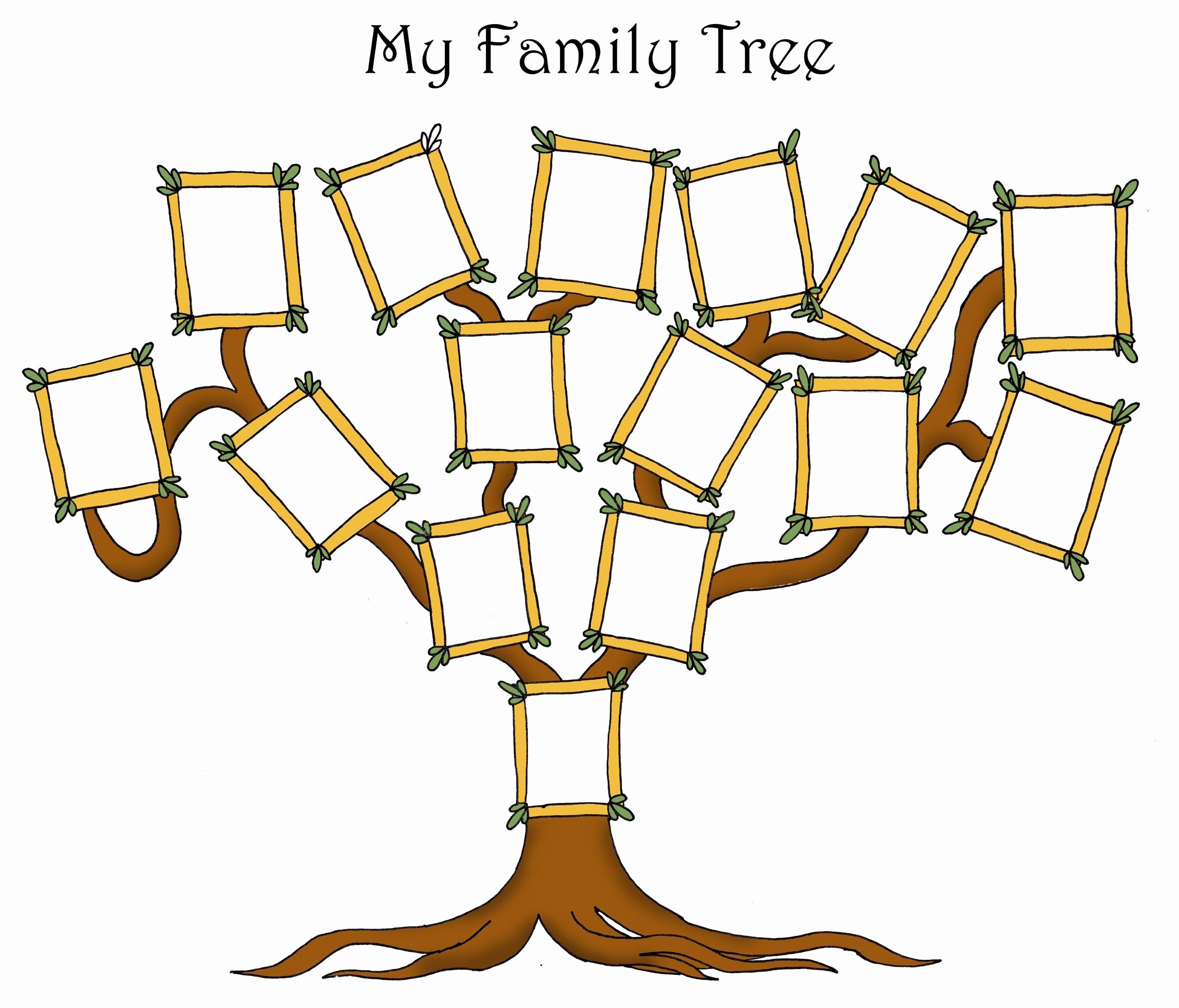 Kindergarten Family Tree Template New Free Editable Family Tree Template Daily Roabox