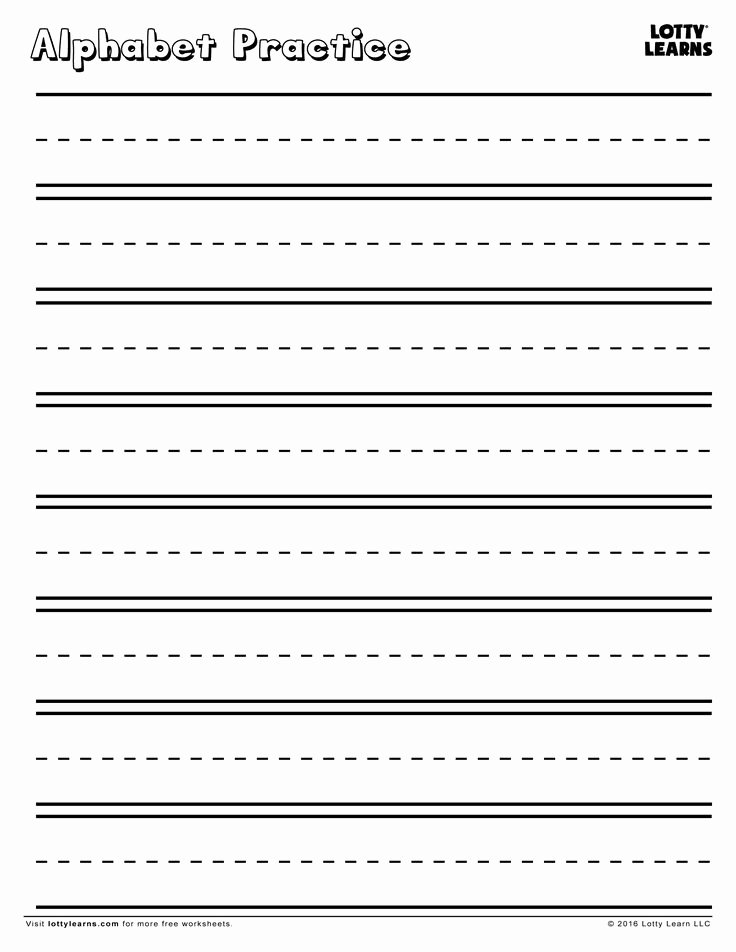 Kindergarten Letter Writing Paper Inspirational Practice Makes Perfect Blank Alphabet Practice Sheet